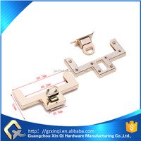 bag accessories metal hardware turn lock key style in zinc alloy material