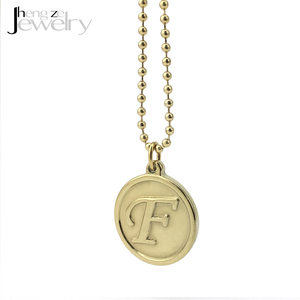 High Quality Name Tag Woman Dubai Jewelry Plated Gold Disc Necklace