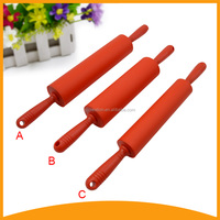 baking tool silicone rolling pin and stick for pastry and cake decoration with PP handle