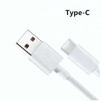 Factory Mobile phone 2A type c cable white black usb c charger