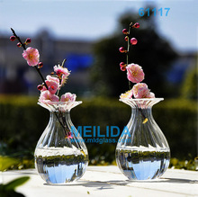 Glass floral vases