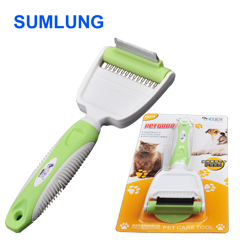 Desheddinator Pet Grooming Cat Dog Groomer / De-shedding Comb Brush for Dogs Cats & Horses
