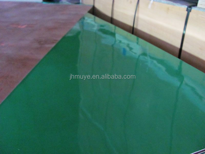 high density of 18mm plastic coated film faced plywood sheet