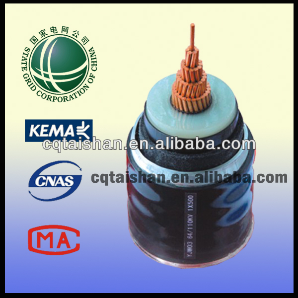 110KV Copper XLPE Underground Insulated Armoured Power Cables