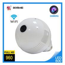 Borme of LED008 Mini V360 Bulb Wireless camera max 128gb capity Super view angle and night vision