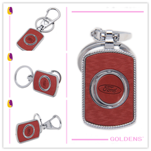 Customing! Logo printing!! Heart hole key ring with round ring key holder car logo print metal key chain for car