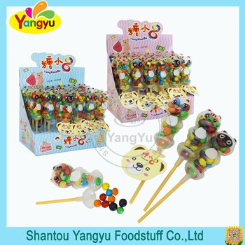 Funny candy sweets bear lolly crispy coated chocolate beans