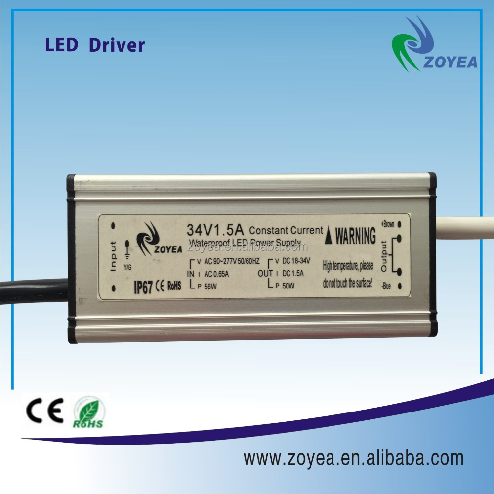 IP67 50w 1.2A meanwell led driver switching power supply 10w 36w 150w