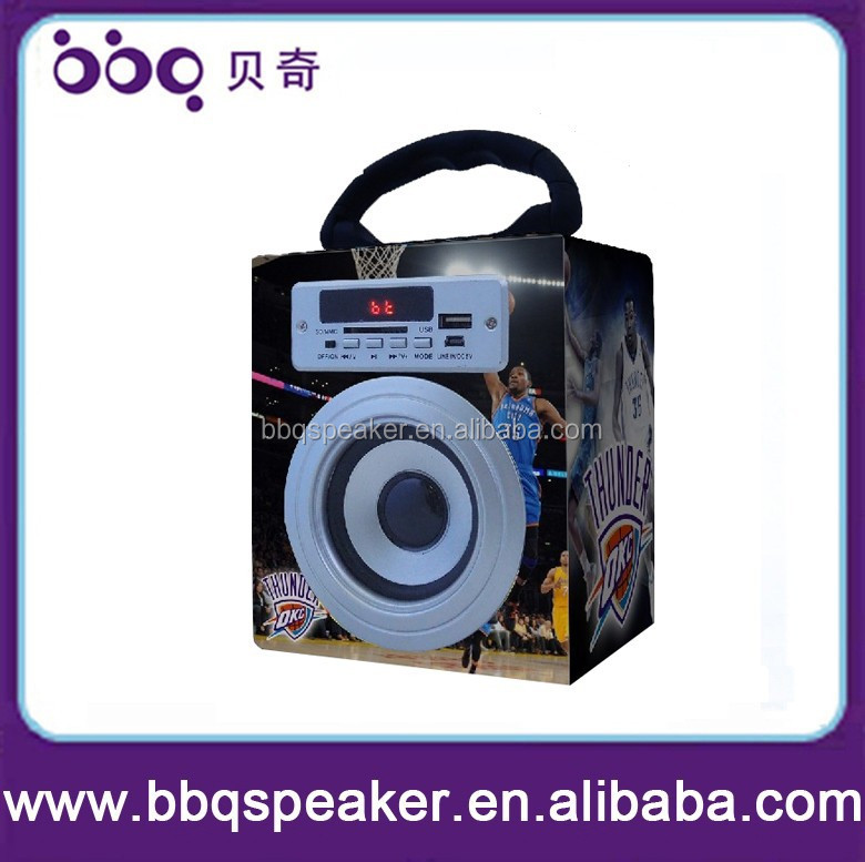 Portable funny super bass speaker support usb flash drive fm radio