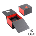 Wholesale cheap Black Paper Watch gift Box Packaging Creative Design Gift Boxes Cases Logo Custom Watch Box
