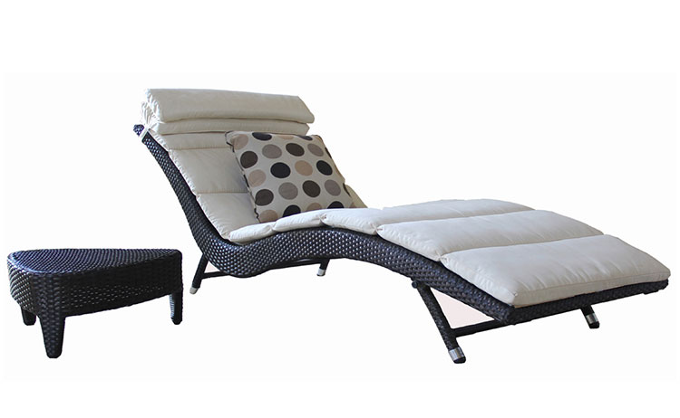 2018 new rattan furniture outdoor patio sunbed daybed