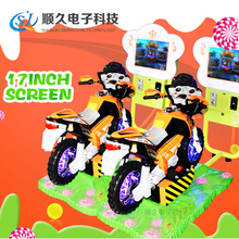 Indoor games kids amusement park game center coin operated kiddie rides 3D Moto amusement rides for sale