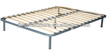 Slatted Wooden Metal Platform Bed Frame