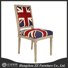 Luxury wooden antique chairs louis white chair armrest dining chair