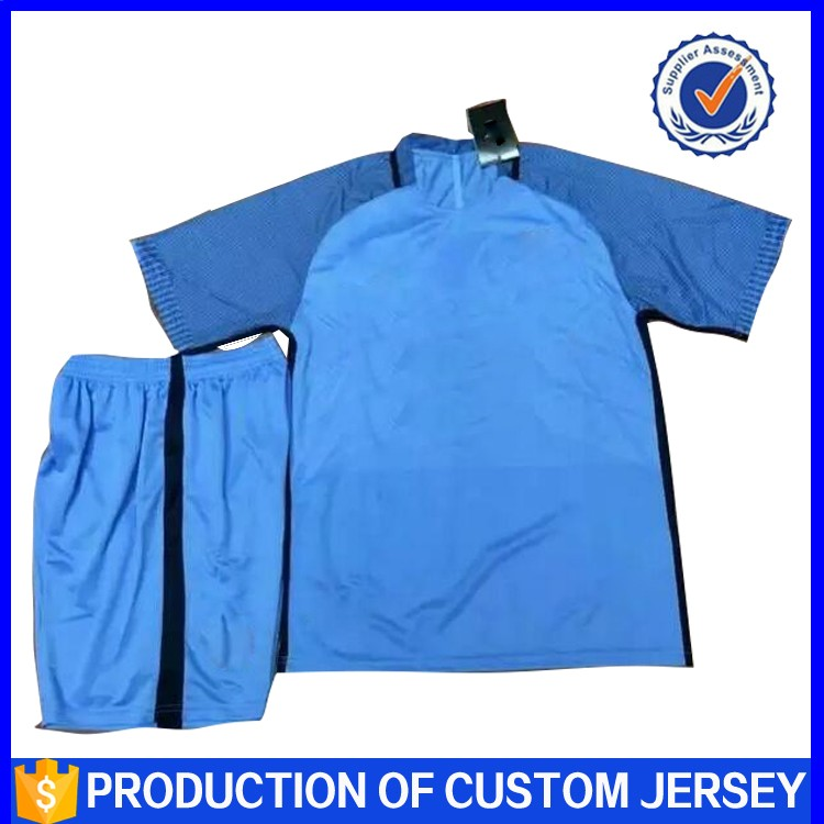 Best Quality Cheap Plain Custom Design100%Ployester Football Club Jersey Thailand Quality
