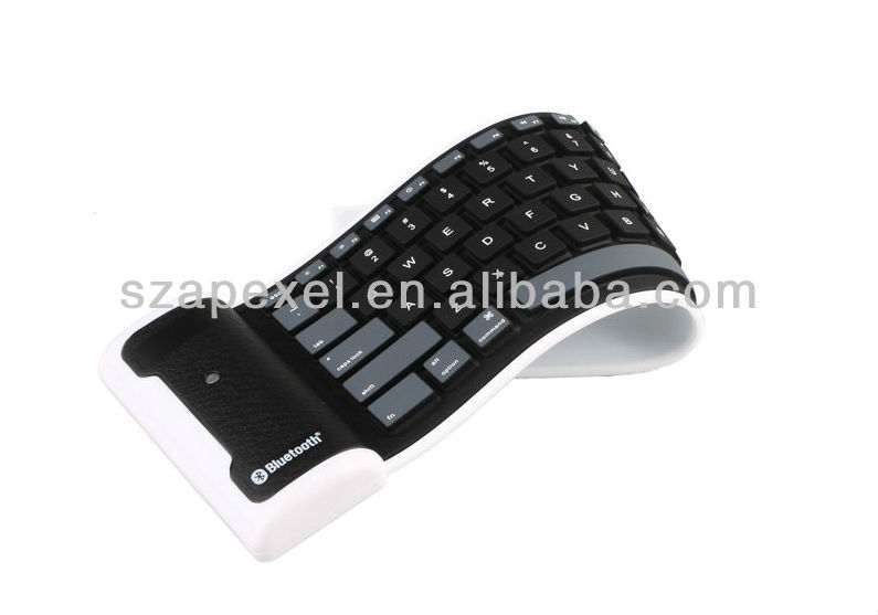 Silicone foldable bluetooth keyboard for ipad