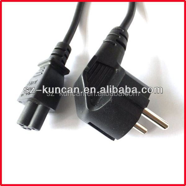 KC-super quality eu plug 2 pin ac power cord cable lead 2 prong