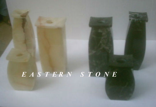 ONYX, MARBLE, FOSSIL STONE URN VASES