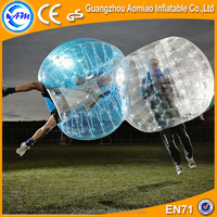 1.2/1.5/1.8 diameter inflatable knocker ball colourful point belly bumper ball for adults