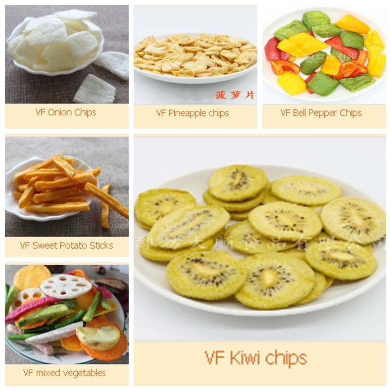 vacuum fried apple chips as fruit chips