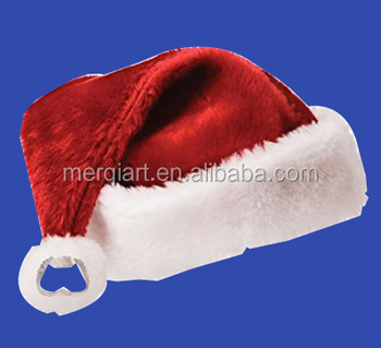 X201381 2017 hot sell Santa's Bottle Cap santa hat christmas hat