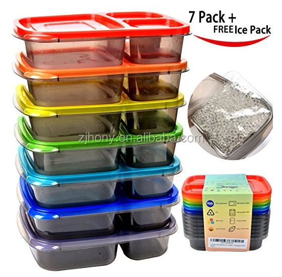 Best quality Basics Youngever Food Container Meal Prep 3 Compartment Portion Lunch Box