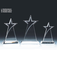 Best Selling Custom Tall Star Crystal Award Trophy for Business Gift