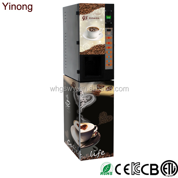 Fresh instant tea coffee vending machine for public places
