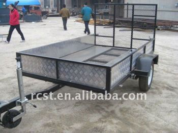 Powder coated wire mesh ATV trailer