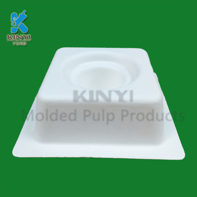 Molded paper pulp biodegradable jewelry boxes packaging insert