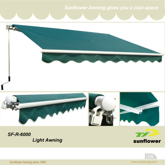 SF-R-6000 Aluminum no cassette retractable awnings