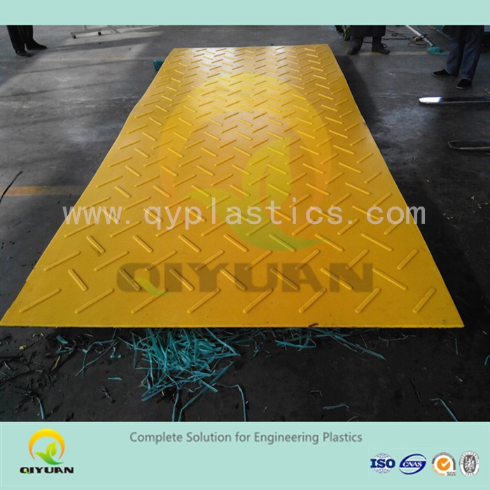 Textured surface road mat, uhmw-pe plastic playground mat, RIGID plastic sheets