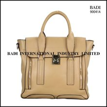 guangzhou badi tote lock closure handbags women bags genuine leather