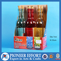 Colorful Chridtmas decorative glass bottles with stoppers and LED lights