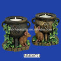 Pentacle Mouse & Cauldron Tealight Votive Candle Holder
