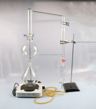 New Lab Essential Oil Steam Distillation Glassware Apparatus w/Graham Condenser