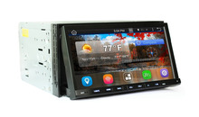 Android 4.4.4 Car dvd gps 2 din 6.95 inch slide down