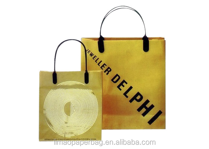 Brown Paper Kraft Bag for famous brand, with custom logo print