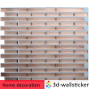 Real Estate decor materials easy DIY 3d wooden vinyl tile removable waterproof peel and stick border mosaic