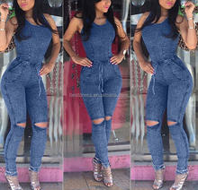 Walson Sexy New Women's Denim Blue Jeans Playsuit Jumpsuit Overall Skinny Slim