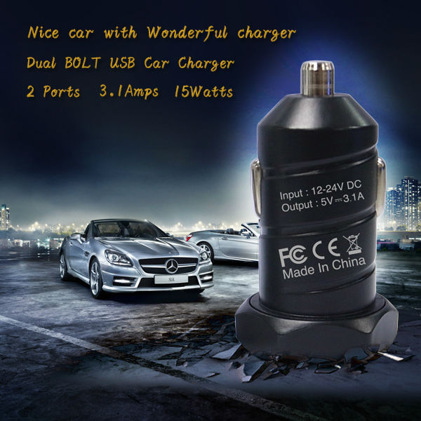 Forida high quality car charger,9V 1A + 9v 2a car charger,car charger battery