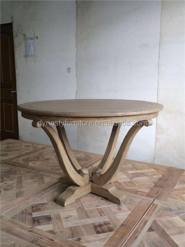 contemporary solid wood round dining table