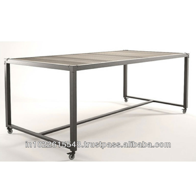 : Industrial dining table on wheels from arabic.alibaba.com size 800 x 800 jpeg 45kB