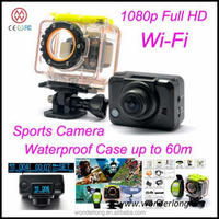 Hot vendendo Wi-Fi IEEE 802.11.b/g/n 1080p action camera