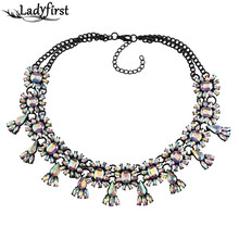 Ladyfirst Handmade Gem Sey Charm New Fashion Collar Choker Necklace&Pendant Hot Sale Boho Jewelry Mai Jewelry Multicolor 3681