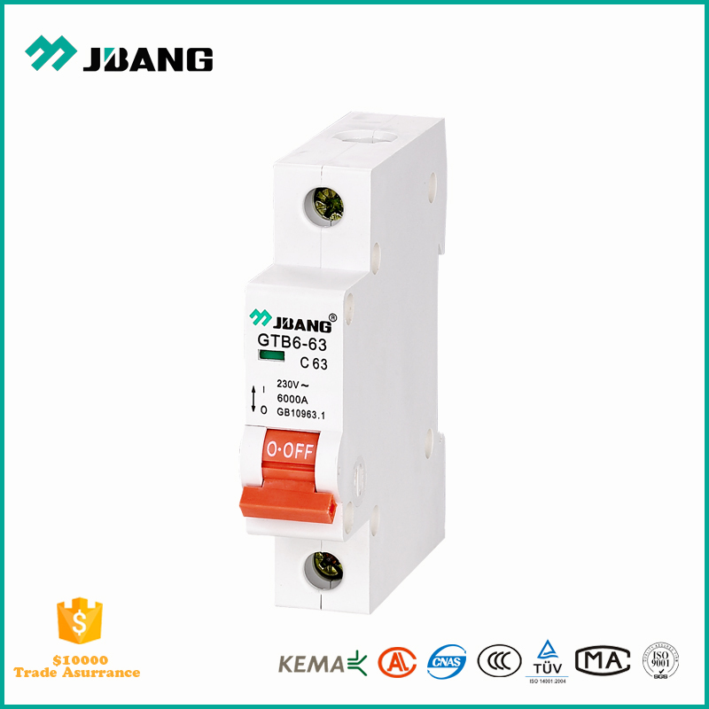 Factory price of MCB 20 amp 1 pole miniature electrical circuit breaker