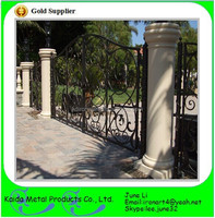 wrought iron metal house gate design