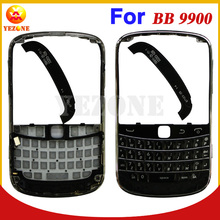 Black Original New Mobile Phone Front Cover Frame Case Cover Faceplate Housing For BlackBerry Bold 9900 9930