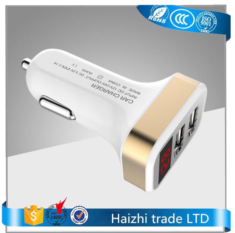 portable dual usb car charger adapter car voltage Diagnostic,dual 2 port usb charger