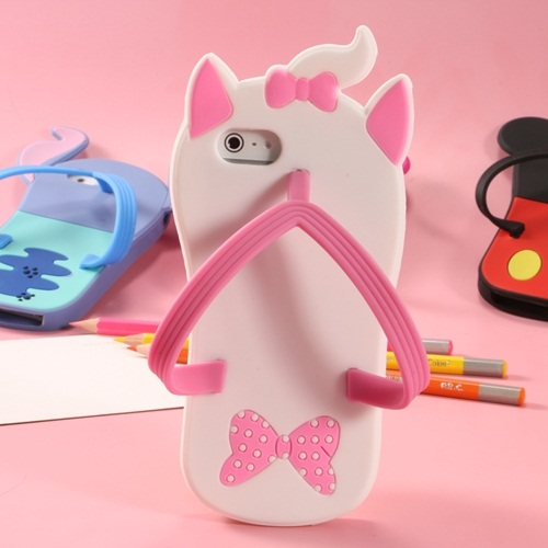 Fashionable practical cartoon Slipper silicone phone cases with bumpers for iphone5 iphone6
